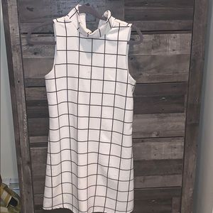 Women's high neck fitted dress